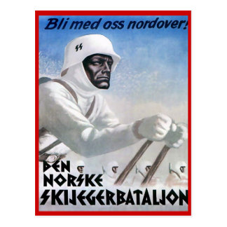Vintage Winter sports, Norske Skijeggerbatallion Postcard