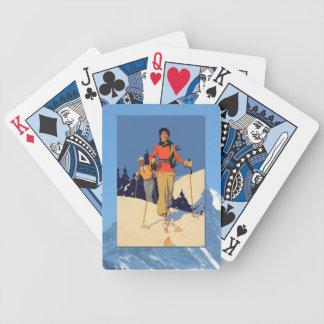 Vintage Winter Sports - On the piste Poker Deck