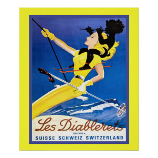 Vintage winter sports poster