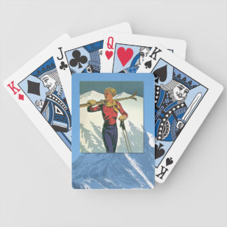 Vintage Winter Sports - Ready to ski Poker Deck