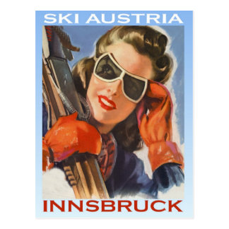 Vintage winter sports, Ski Austria, Innsbruck Postcard