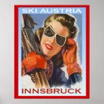 Vintage winter sports Ski Austria, Innsbruck Poster