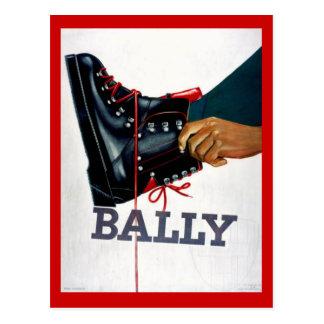 Vintage winter sports, Ski Boots, Bally Postcard