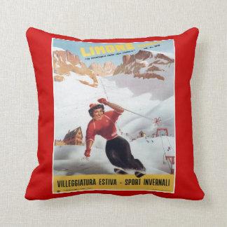Vintage winter sports, ski Italy, Limone Cushion