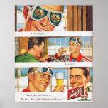 Vintage winter sports Ski Schlilz beer Poster