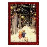 Vintage Winter Wonderland Christmas Greeting Card