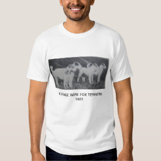 Vintage Wire Fox Terriers T-shirts