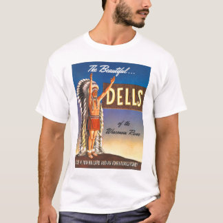 Vintage Wisconsin Dells 'Chief' Ad Art Kitsch T-Shirt