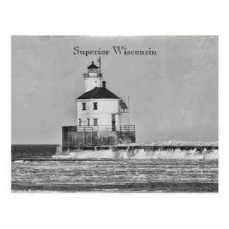 Vintage Wisconsin Lighthouse Postcard