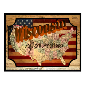 Vintage Wisconsin Old Postcard