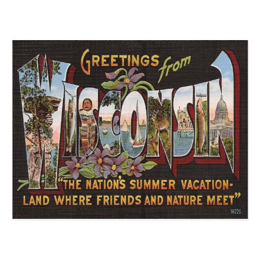 Vintage Wisconsin Post Cards