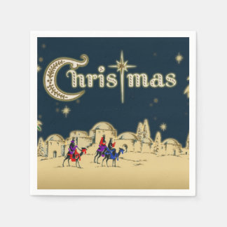 Vintage Wisemen/Desert Religious Christmas Paper Napkin