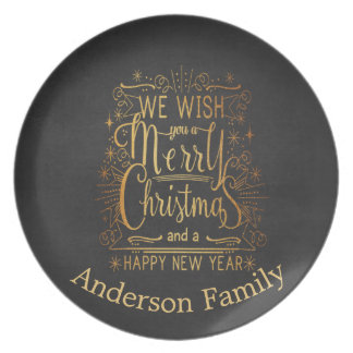 Vintage  Wish You A Merry Christmas Dish