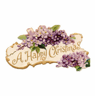 Vintage Wishing you a Happy Christmas Photo Cut Outs