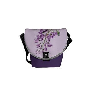 Vintage Wisteria Flower Graphic Courier Bag
