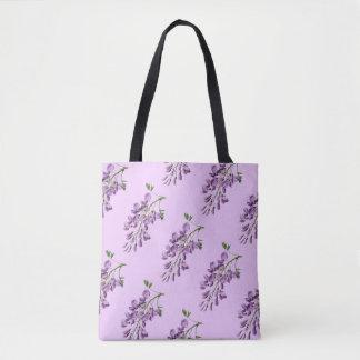 Vintage Wisteria Pale Lavender Tote Bag