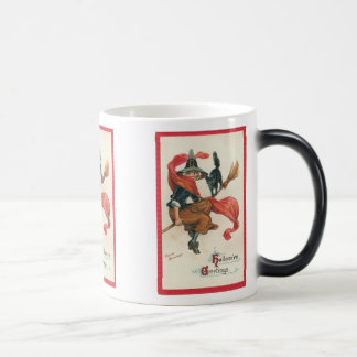 Vintage Witch and Cat on Broomstick Mug