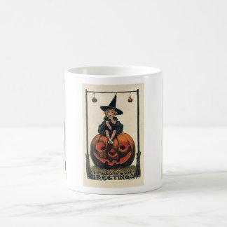 Vintage Witch Halloween Designs Mugs