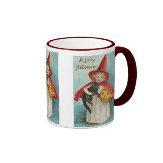 Vintage Witch Halloween Designs Coffee Mugs