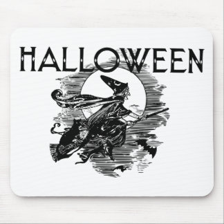 Vintage Witch Halloween Mouse Pad