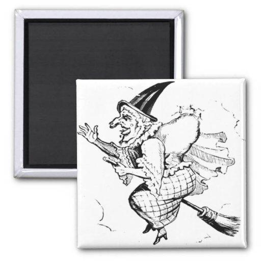 Vintage Witch illustration Magnet