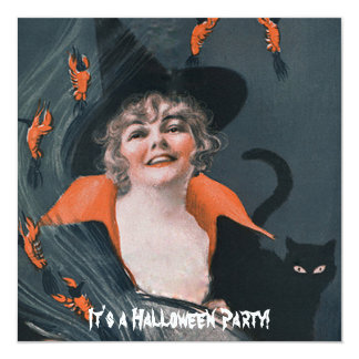 Vintage Witches Brew with Lobsters 13 Cm X 13 Cm Square Invitation Card