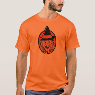 Vintage Witch's Face T-Shirt