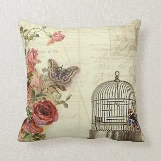 Vintage with Roses Bird Cage Cushion