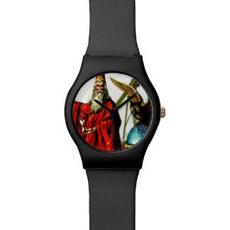 Vintage Wizard Merlin Owl Magician Art Watch