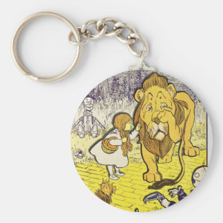 Vintage Wizard of Oz 1st Edition Print Basic Round Button Key Ring
