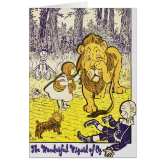 Vintage Wizard of Oz 1st Edition Print Greeting Card
