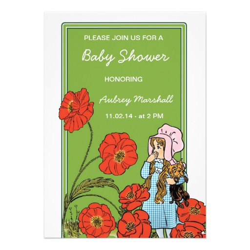 vintage wizard of oz baby shower invitation 5 x 7 invitation card