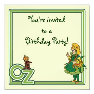 Vintage Wizard of Oz, Birthday Party Invitation