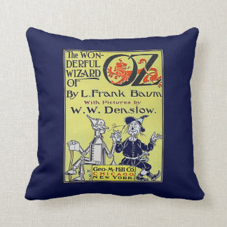 Vintage Wizard of Oz Book Cover Cushion