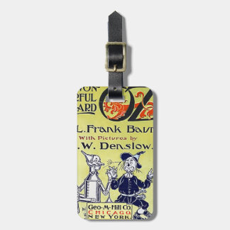 Vintage Wizard of Oz Book Cover Luggage Tag