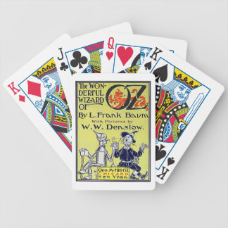 Vintage Wizard of Oz Book Cover Poker Deck