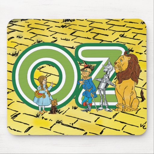 Vintage Wizard of Oz Characters and Letters Mouse Pad
