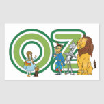 Vintage Wizard of Oz Characters and Letters Rectangular Sticker