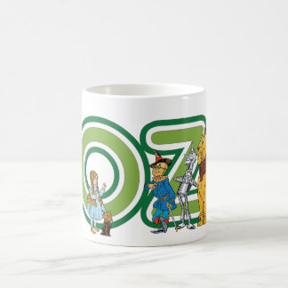 Vintage Wizard of Oz Characters and Text Letters Coffee Mug