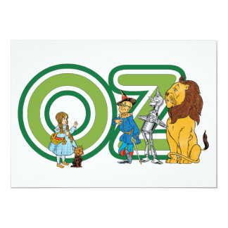 Vintage Wizard of Oz Characters Invitation