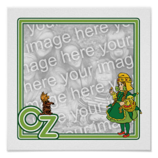 Vintage Wizard of Oz; Dorothy and Toto Border Poster