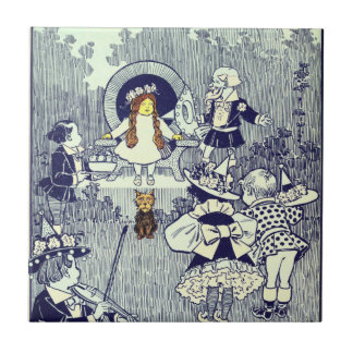 Vintage Wizard of Oz, Dorothy Meets the Munchkins Ceramic Tile
