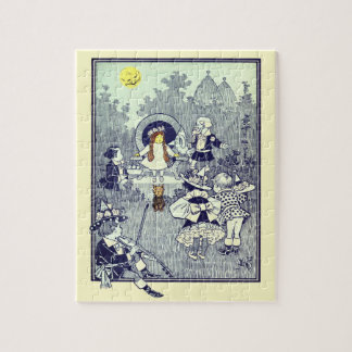 Vintage Wizard of Oz, Dorothy Meets the Munchkins Jigsaw Puzzle