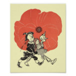 Vintage Wizard of Oz Dorothy Sleeping with Poppies Poster