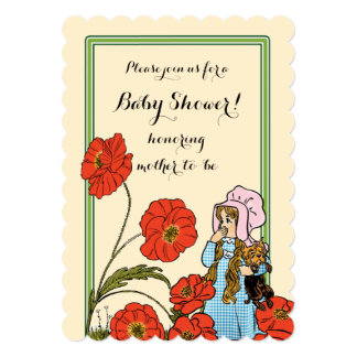Vintage Wizard of Oz, Dorothy Toto, Baby Shower Card