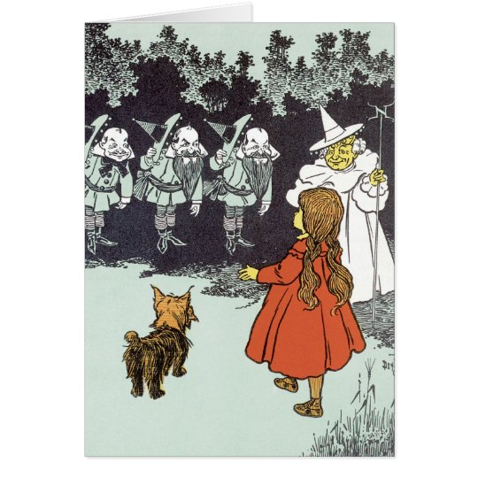 Vintage Wizard of Oz Dorothy Toto Glinda Munchkins Card