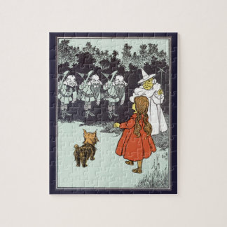 Vintage Wizard of Oz Dorothy Toto Glinda Munchkins Jigsaw Puzzle