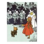 Vintage Wizard of Oz Dorothy Toto Glinda Munchkins Post Card