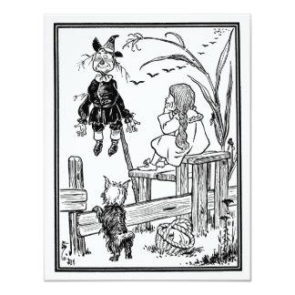 Vintage Wizard of Oz, Dorothy Toto Meet Scarecrow Card