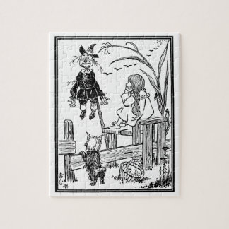 Vintage Wizard of Oz, Dorothy Toto Meet Scarecrow Jigsaw Puzzle